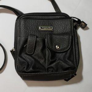 Rosetti Black Crossbody Bag with Adjustable Strap